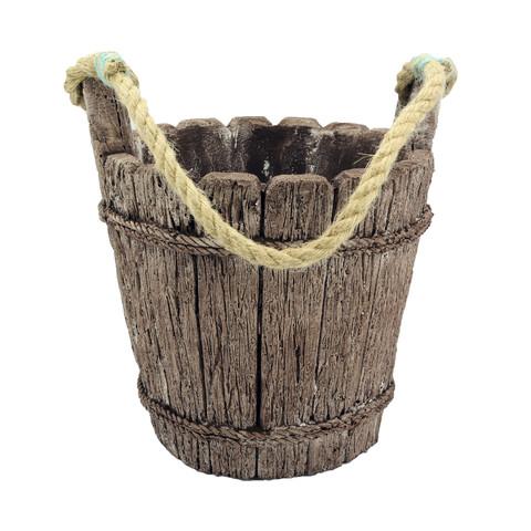 گلدان طرح سطل چوبی کد ST2