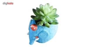 گلدان دکوگل طرح فیل آبی مدل DG005